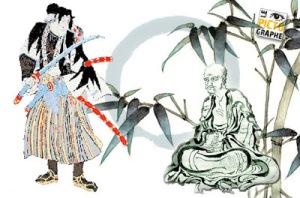 samurai et Hakuin Ekaku